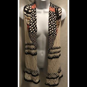 Size Small Anthropologie MOTH Open Front Vest